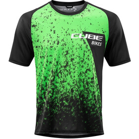 Cube Edge Jersey T-shirt Ronde Hals Heren, black´n´green